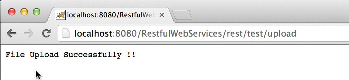 How to upload file using Jersey restful web services? - Java Restful