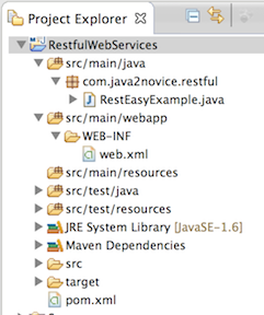 Restful web services - Jersey hello world example  - Java
